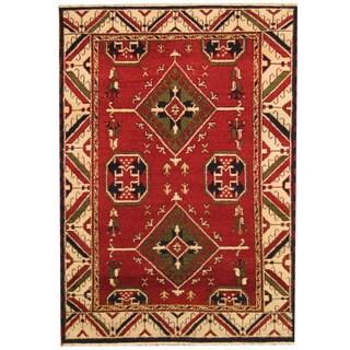 Herat Oriental Indo Hand-knotted Tribal Kazak Wool Rug (4'9 x 6'8)