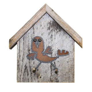 Natural Reclaimed Rustic Birdhouse Key Holder, WACKY-BIRD