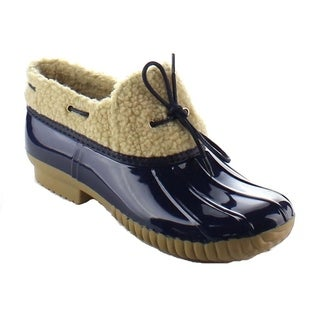Beston BA17 Women's Faux Fur Shearling Waterproof Duck Booties