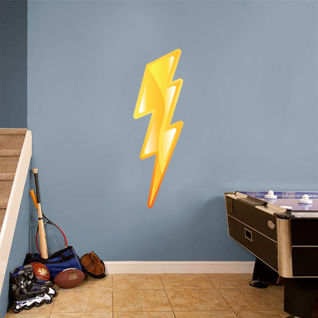 Sweetums Lightning Bolt Printed Wall Decal (Large), Multi...