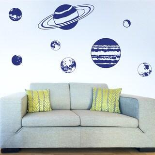Planet Set Nursery Vinyl Wall Art