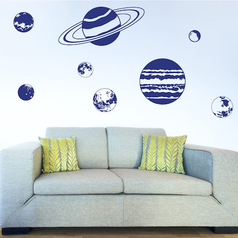 Planet Set Nursery Vinyl Wall Art