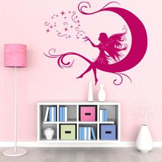 Moon Fairy Girl Nursery Vinyl Wall Art
