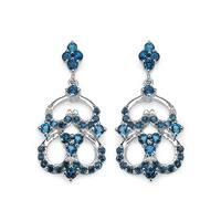 Olivia Leone 4.84 Carat Genuine London Blue Topaz .925 Sterling Silver Earrings