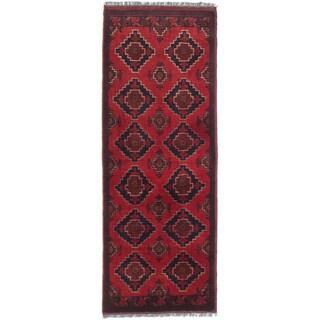 ecarpetgallery Finest Khal Mohammadi Red Wool Rug (1' x 4')