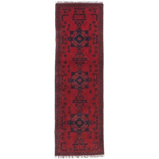 ecarpetgallery Traditional Khal Mohammadi Red Wool Rug (1' x 4')