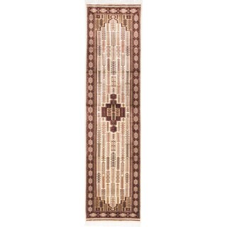 ecarpetgallery Kashmir Kerman Beige Silk Rug (2' x 10')