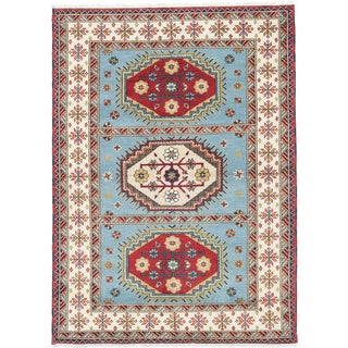 ecarpetgallery Royal Kazak Blue Wool Rug (5' x 8')