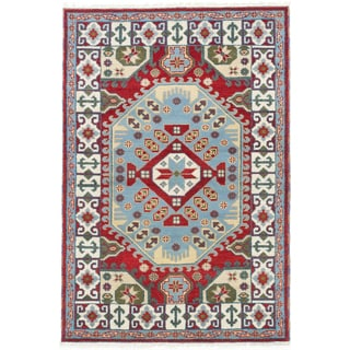 Ecarpet Gallery Royal Kazak Red Wool Rug (4' x 6')