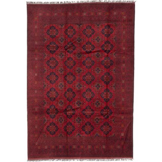 ecarpetgallery Fine Khal Mohammadi Red Wool Rug (6' x 9')