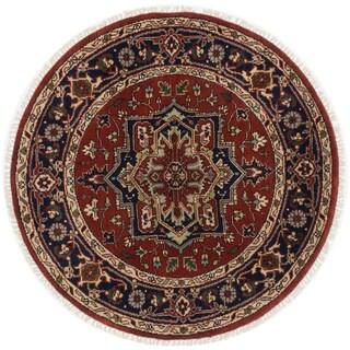 ecarpetgallery Serapi Heritage Brown Wool Rug (5' x 5')