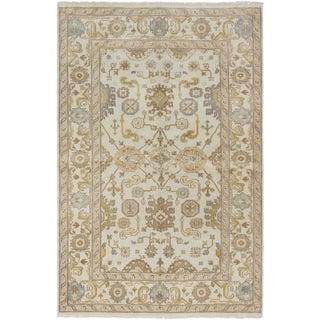 ecarpetgallery Royal Ushak Beige Wool Rug (5' x 8')