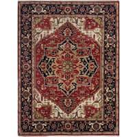 ecarpetgallery Serapi Heritage Red Wool Rug - 9' x 11'
