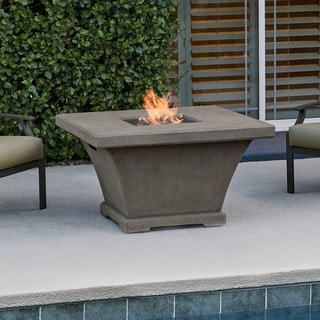 Real Flame Monaco Square Chat Height Fire Table Glacier Gray