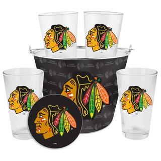 Chicago Blackhawks Glass Bucket and Pint Gift Set
