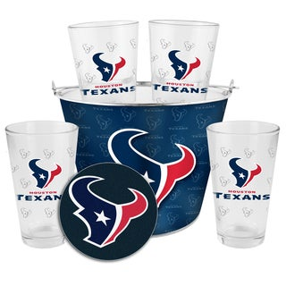 Houston Texans Glass Bucket and Pint Gift Set
