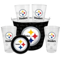 Pittsburgh Steelers Glass Bucket and Pint Gift Set