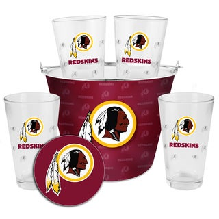 Washington Redskins Glass Bucket and Pint Gift Set