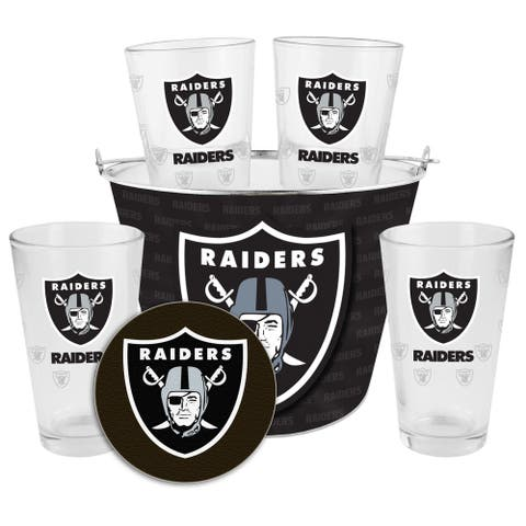 Oakland Raiders Glass Bucket and Pint Gift Set