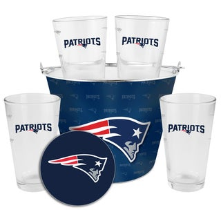 New England Patriots Glass Bucket and Pint Gift Set