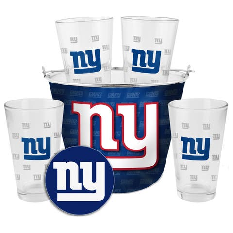 New York Giants Glass Bucket and Pint Gift Set