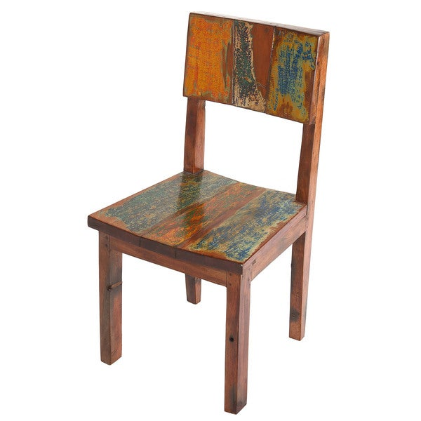 Handmade Reclaimed Boat Wood Dining Chair Indonesia Free Shipping Today