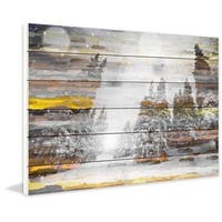 Marmont Hill - Tree Snow 1 Painting Print on White Wood