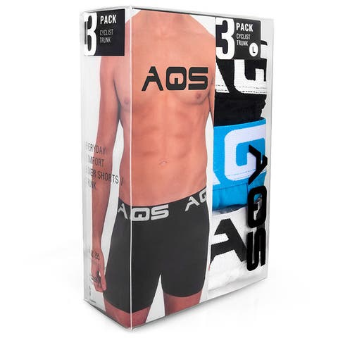 AQS Men's Solid Color Boxer Briefs (Pack of 3)