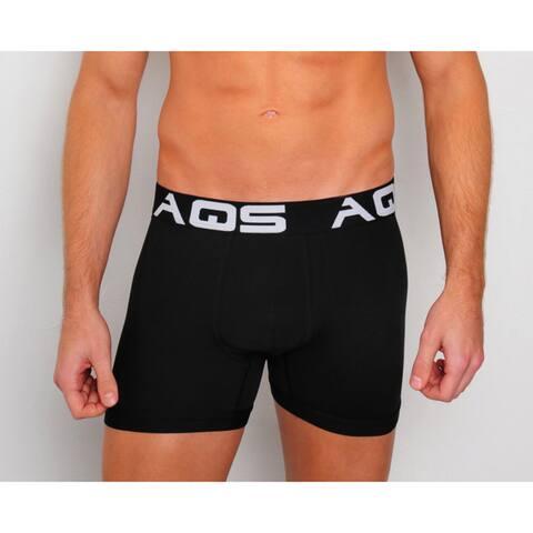 AQS Men's White/ Grey/ Black Boxer Briefs 3-Pack