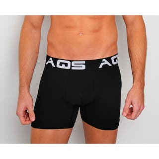 AQS Men's White/ Grey/ Black Boxer Briefs 3-Pack