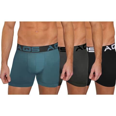 AQS Men's Multi-Colored Boxer Briefs