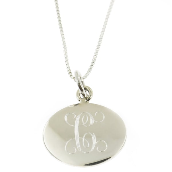 Handmade Sterling Silver Personalized Round Pendant Necklace (Mexico)