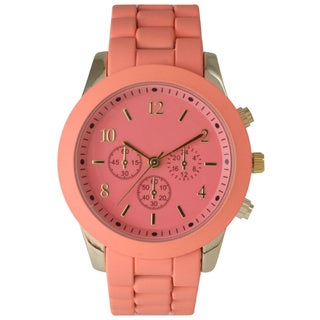 Olivia Pratt Women's Ceramic Colorful Dial Watch
