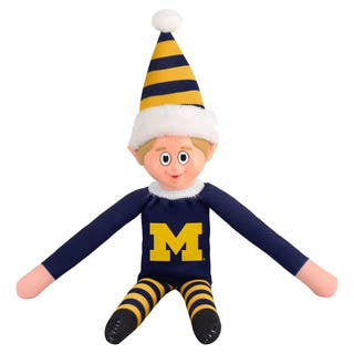 Forever Collectibles Michigan Wolverines NCAA 14-inch Team Elf|https://ak1.ostkcdn.com/images/products/10764217/P17816351.jpg?impolicy=medium