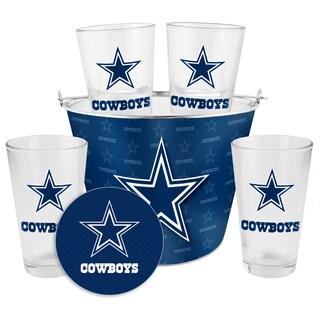 Dallas Cowboys Glass Bucket and Pint Gift Set