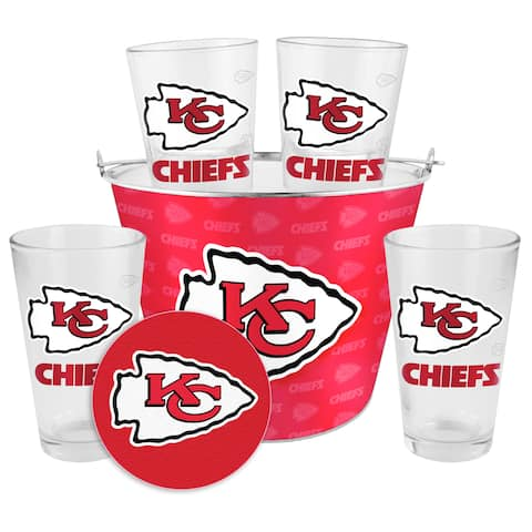 Kansas City Chiefs Glass Bucket and Pint Gift Set