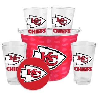 Kansas City Chiefs Glass Bucket and Pint Gift Set