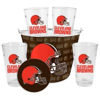 Cleveland Browns Glass Bucket and Pint Gift Set