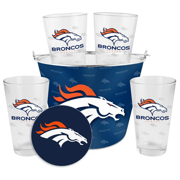 Denver Broncos Glass Bucket and Pint Gift Set