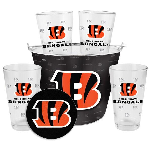 Cincinnati Bengals Glass Bucket and Pint Gift Set