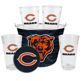 Chicago Bears Glass Bucket and Pint Gift Set