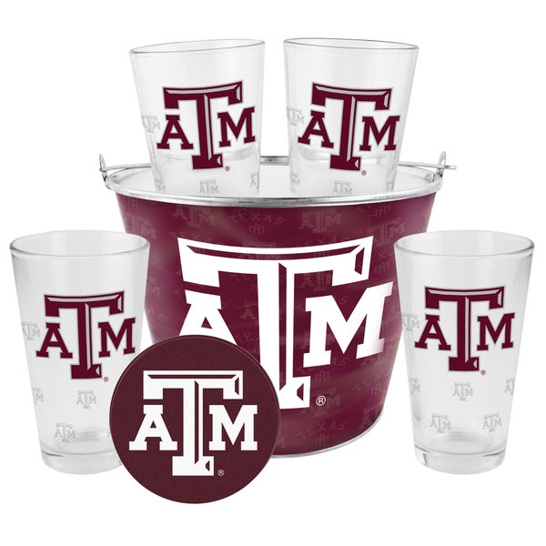 Texas AM Aggies Glass Bucket and Pint Gift Set