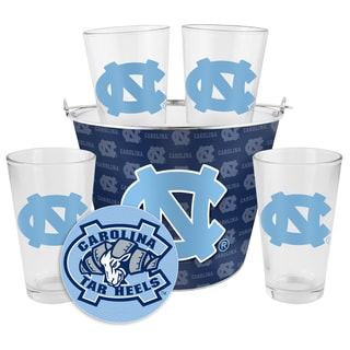 North Carolina Tar Heels Glass Bucket and Pint Gift Set