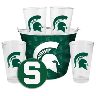 Michigan State Spartans Glass Bucket and Pint Gift Set