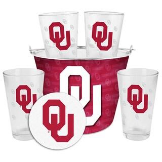 Oklahoma Sooners Glass Bucket and Pint Gift Set