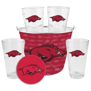 Arkansas Razorbacks Glass Bucket and Pint Gift Set