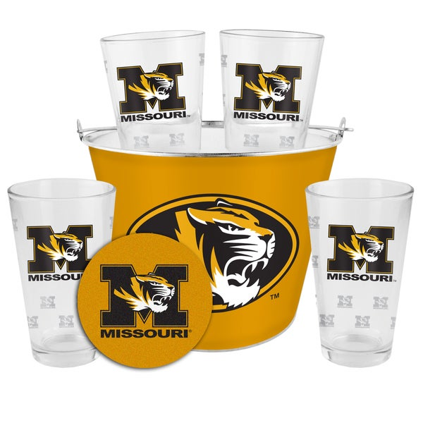 Missouri Tigers Glass Bucket and Pint Gift Set