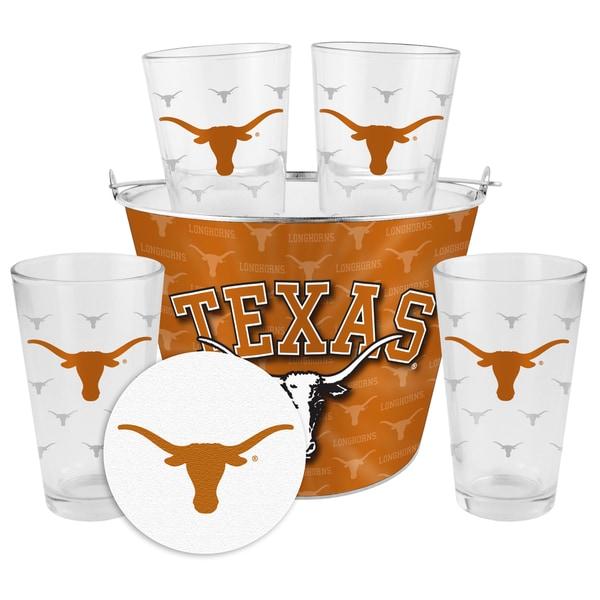 Texas Longhorns Glass Bucket and Pint Gift Set