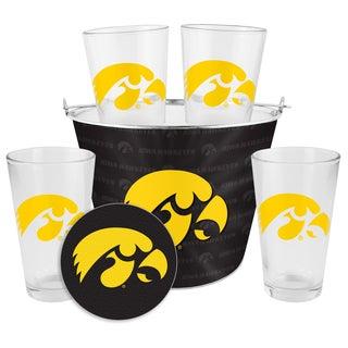 Iowa Hawkeyes Glass Bucket and Pint Gift Set