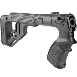 Tactical Folding Buttstock with Cheek Piece/Riser for Remington 870 Shotgun